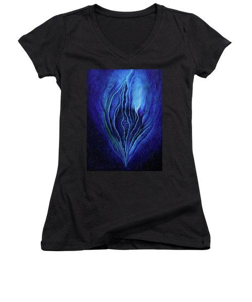 The Ecstatic Birth Of Cosmic Flow Women's V-Neck T-Shirt