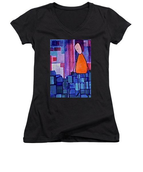 The Edge Women's V-Neck T-Shirt (Junior Cut) by Donna Howard