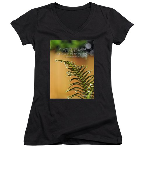 Women's V-Neck T-Shirt featuring the photograph The Edges Of Time by Peggy Hughes