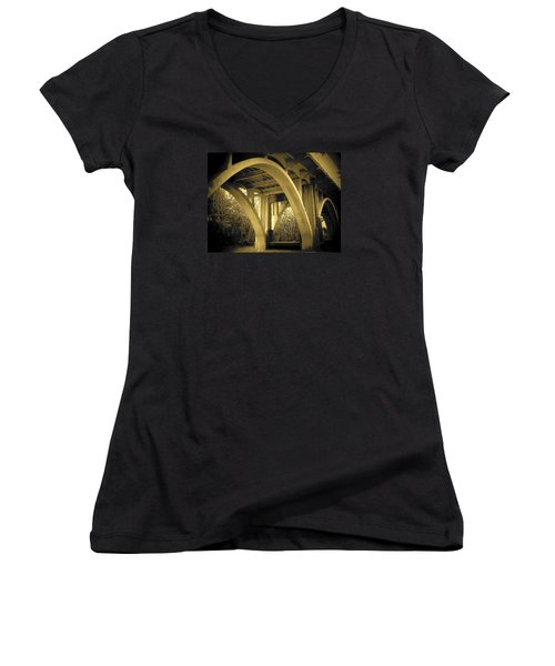 The Edmund Pettus Bridge I Women's V-Neck T-Shirt
