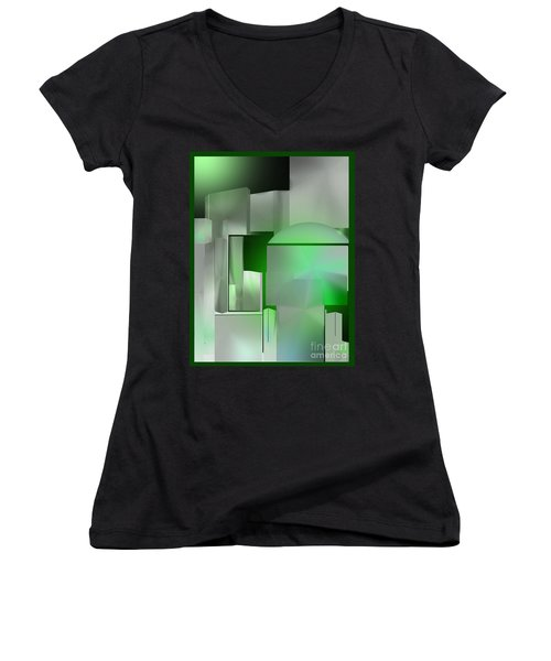 The Emerald City Women's V-Neck (Athletic Fit)