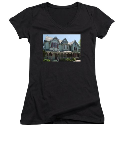 Women's V-Neck T-Shirt (Junior Cut) featuring the photograph The Empress by Richard Bryce and Family