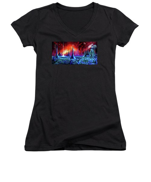 The Enneanoveum Women's V-Neck T-Shirt (Junior Cut) by James Christopher Hill