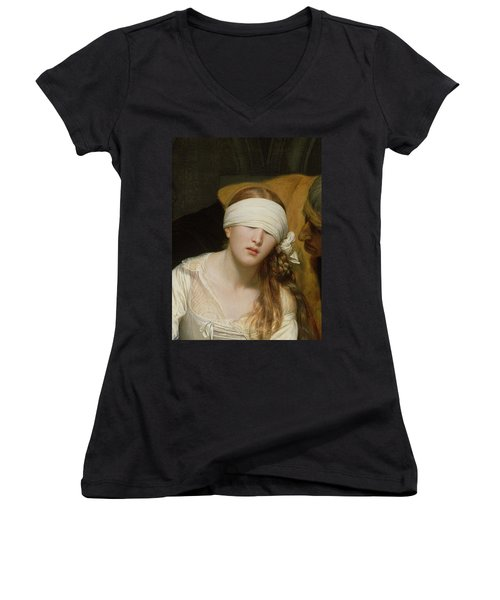 The Execution Of Lady Jane Grey Women's V-Neck T-Shirt