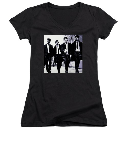 The Fab Four Women's V-Neck T-Shirt