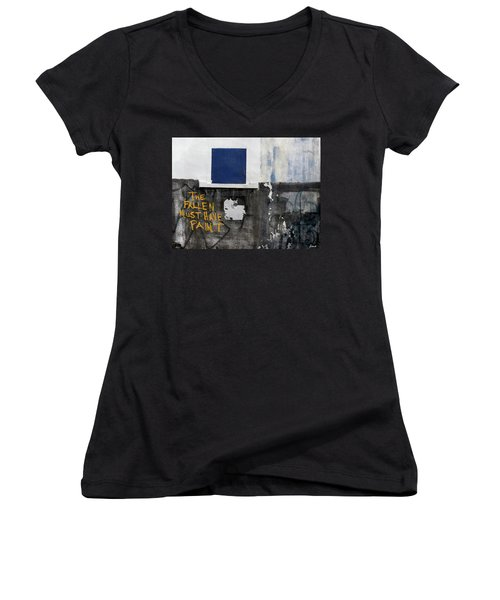 The Fallen Must Have Paint Women's V-Neck (Athletic Fit)
