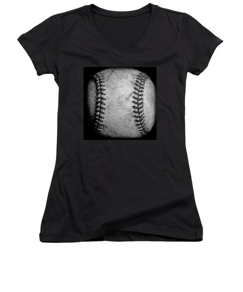 Women's V-Neck T-Shirt (Junior Cut) featuring the photograph The Fastball by David Patterson