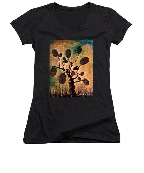 The Fingerprints Of Time Women's V-Neck T-Shirt