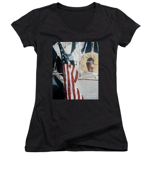 The Flag Women's V-Neck T-Shirt (Junior Cut)