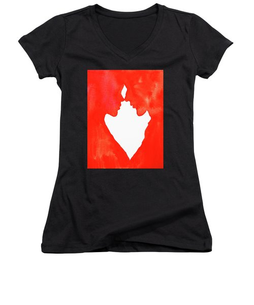 The Flame Of Love Women's V-Neck T-Shirt (Junior Cut) by Iryna Goodall