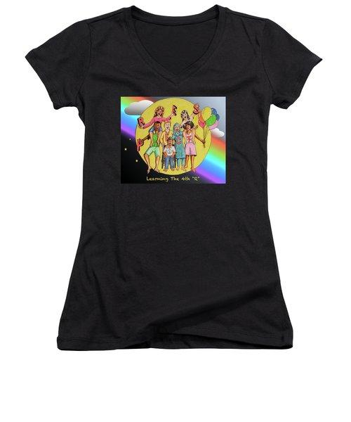 The Fourth R Women's V-Neck T-Shirt