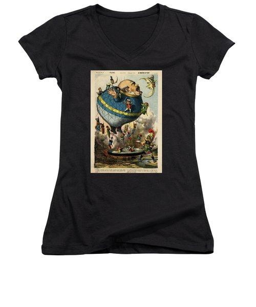 The Frying Pan Of War Women's V-Neck T-Shirt