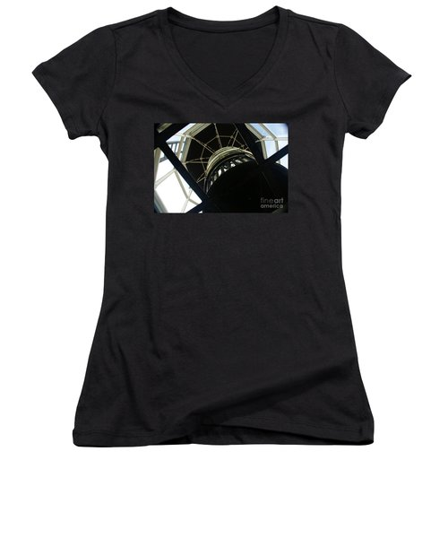 The Ghost Within Women's V-Neck T-Shirt (Junior Cut) by Linda Shafer
