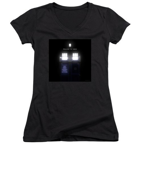 The Glass Police Box Women's V-Neck T-Shirt
