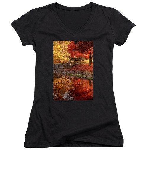 The Glory Of Autumn Women's V-Neck (Athletic Fit)