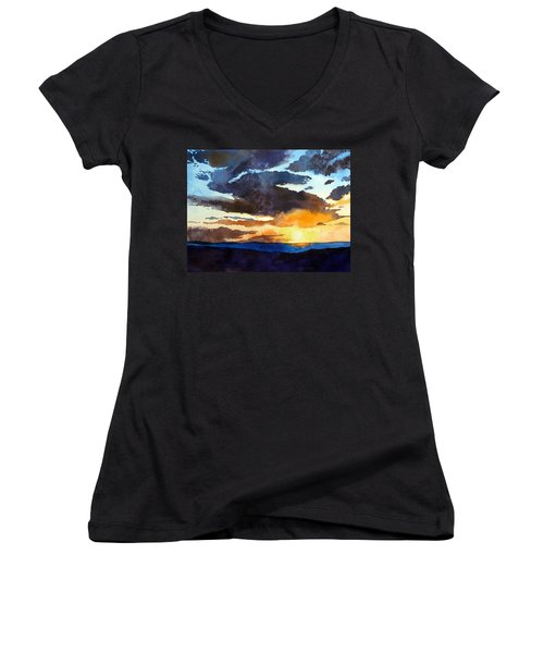 The Glory Of The Sunset Women's V-Neck