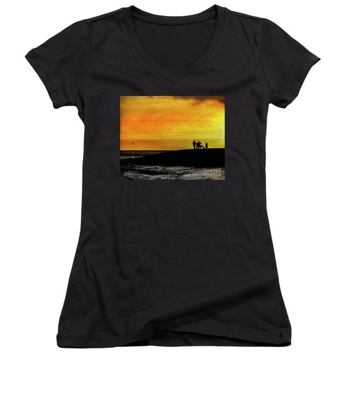 The Golden Hour II Women's V-Neck T-Shirt