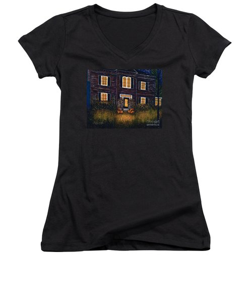 The Good Witch Grey House Women's V-Neck