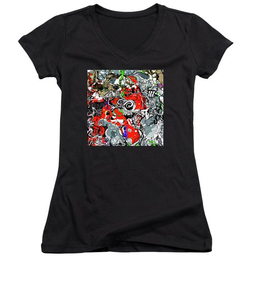 The Grapevine Wall Section 1 Women's V-Neck (Athletic Fit)