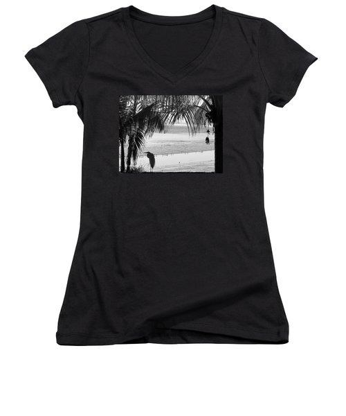 Watching The Tide Women's V-Neck