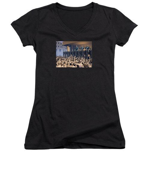 The Great Mud Revolt Women's V-Neck (Athletic Fit)