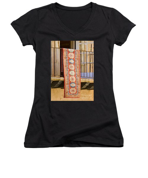 The Hanging Carpet Of Sedona Women's V-Neck (Athletic Fit)