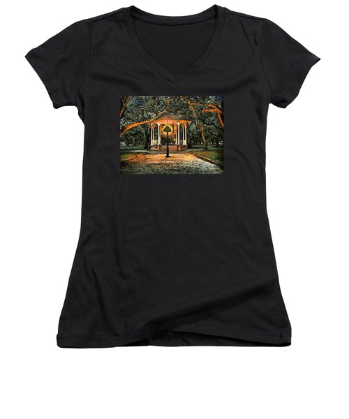 The Haunted Gazebo Women's V-Neck (Athletic Fit)