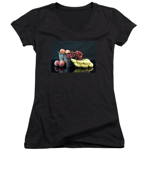 Women's V-Neck T-Shirt (Junior Cut) featuring the photograph The Healthy Choice Selection by Sherry Hallemeier