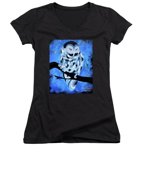 The Ice Owl Women's V-Neck (Athletic Fit)