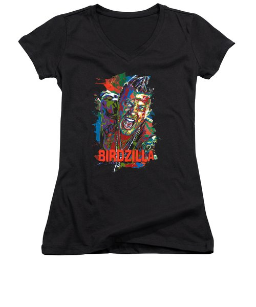 The Illustrated Man Women's V-Neck T-Shirt (Junior Cut) by Maria Arango