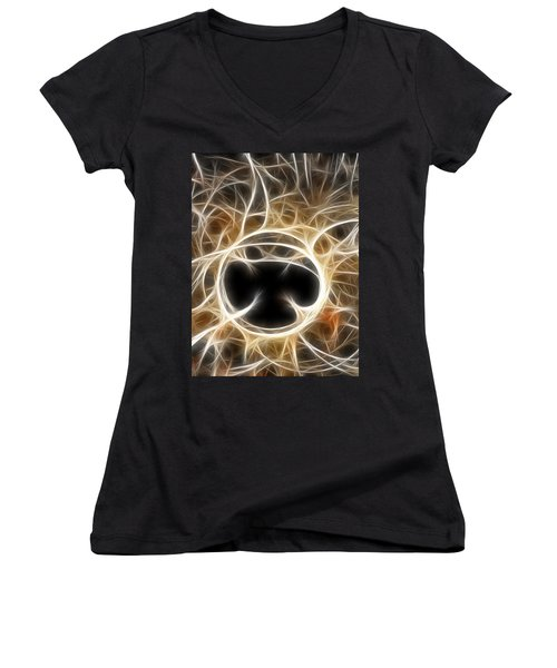 Women's V-Neck T-Shirt (Junior Cut) featuring the digital art The Invitation by Holly Ethan