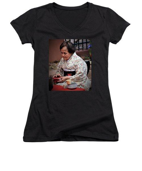 The Japanese Tea Ceremony Women's V-Neck T-Shirt
