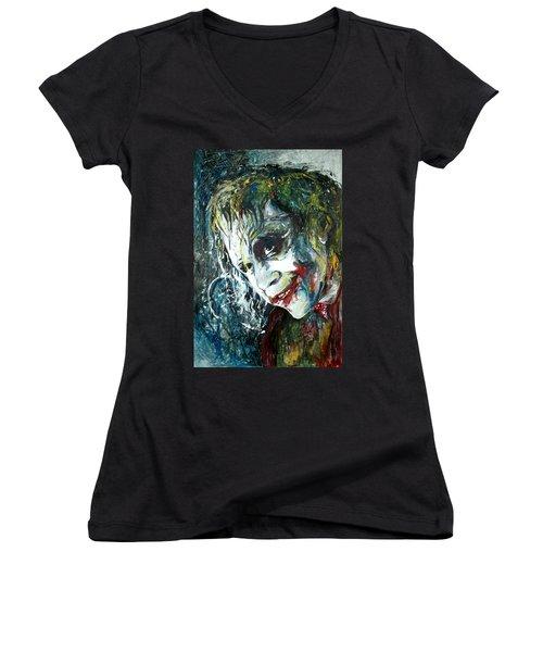The Joker - Heath Ledger Women's V-Neck T-Shirt