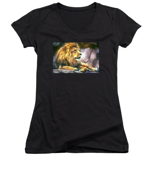 The King Of Cool Women's V-Neck (Athletic Fit)