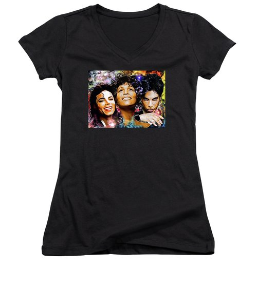 The King, The Queen And The Prince Women's V-Neck T-Shirt (Junior Cut) by Daniel Janda