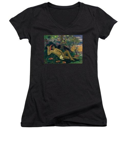 The Kings Wife Women's V-Neck T-Shirt (Junior Cut) by Paul Gauguin