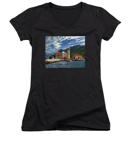 The Lady Of The Rocks Women's V-Neck