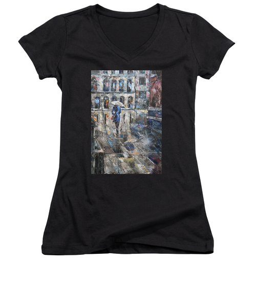 The Lady In Blue Women's V-Neck