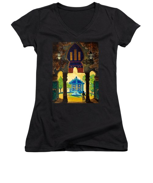 The Lamp's Garden Women's V-Neck T-Shirt