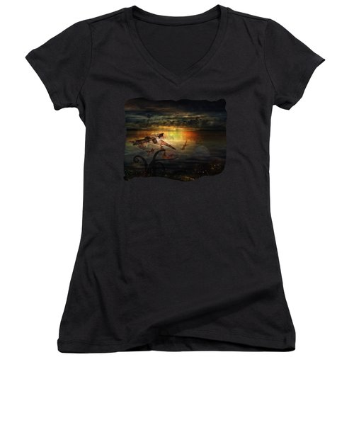 The Last Fairy Tale Women's V-Neck (Athletic Fit)