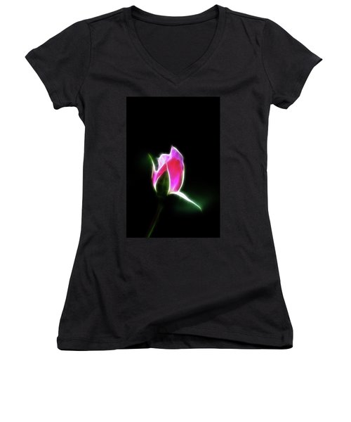 The Light Of Heaven Shining Down Women's V-Neck (Athletic Fit)