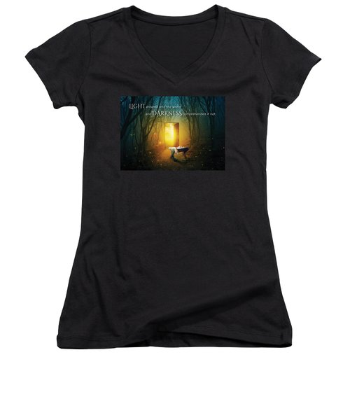 The Light Of Life Women's V-Neck (Athletic Fit)