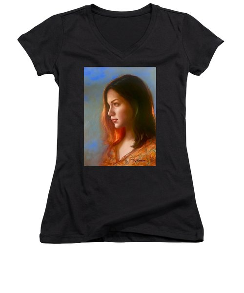 The Look Women's V-Neck T-Shirt