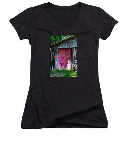 The Magenta Doors Women's V-Neck (Athletic Fit)
