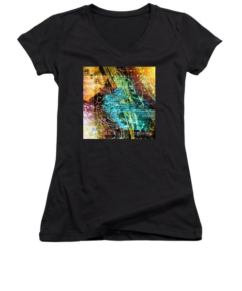 The Magic Key. Women's V-Neck (Athletic Fit)