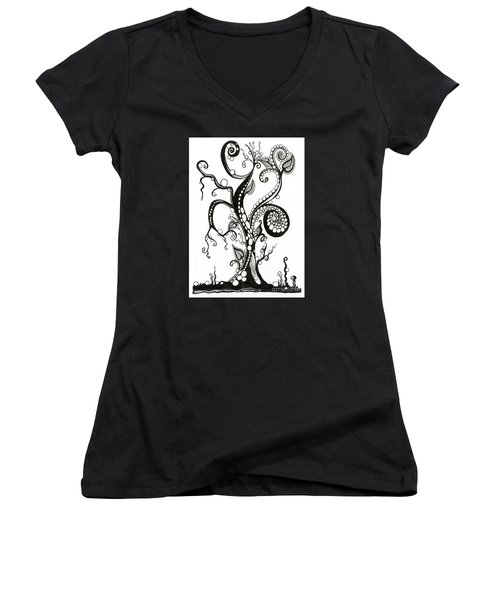 The Magic Tree Women's V-Neck (Athletic Fit)