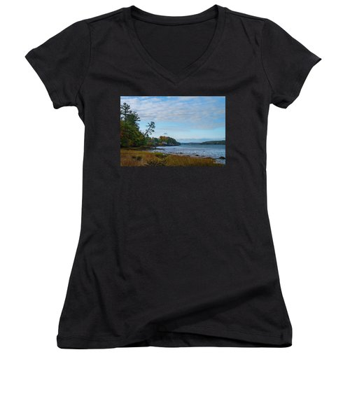 The Maine Coast Near Edgecomb  Women's V-Neck