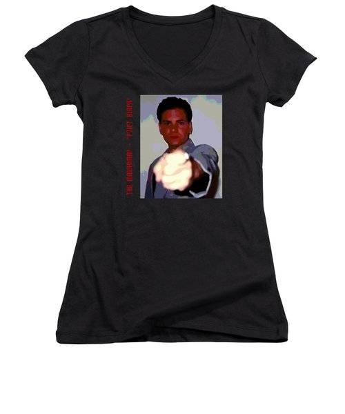 The Marksman - Point Blank Women's V-Neck T-Shirt (Junior Cut) by Mark Baranowski