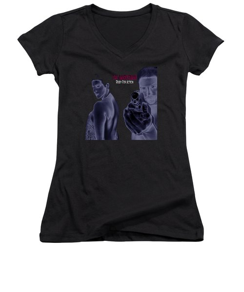 The Marksman - Ready For Action Women's V-Neck T-Shirt (Junior Cut)