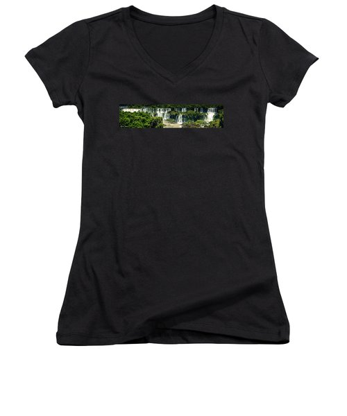 Women's V-Neck T-Shirt (Junior Cut) featuring the photograph The Mighty Iguazu  by Andrew Matwijec